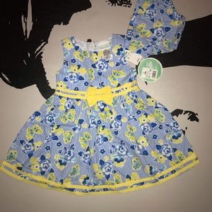 Nannette | Baby Girl Sleeveless Pinstriped Dress